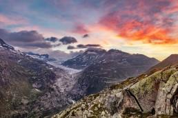 Alpen, Alpenpass, Berg, Berge, Bergmassiv, Clouds, Furka, Furkapass, Gletscher, Goms, Landschaft und Natur, Oberwallis, Orte, Schweiz, Suisse, Switzerland, Vallais, Wallis, Wetter, Wolken