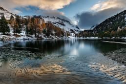 Albulapass, Alpen, Alpenpass, Autumn, Bergsee, Fall, Gewässer, Graubünden, Herbst, Jahreszeiten, Landschaft und Natur, Natur, Orte, Schweiz, See, Suisse, Switzerland, lake, pass d'alvra