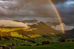 Appenzell, Appenzellerland, Clouds, Jahreszeiten, Landschaft und Natur, Natur, Orte, Ostschweiz, Rainbow, Regenbogen, Schweiz, Sommer, Suisse, Switzerland, Säntis, Wetter, Wolken, summer