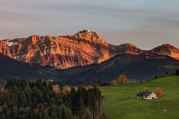 Alpstein, Appenzell, Appenzell Ausserrohden, Autumn, Berg, Fall, Herbst, Ostschweiz, Schweiz, Streusiedlung, Suisse, Switzerland, Säntis, Säntisbahn, Säntisbahn Säntis, Waldstatt
