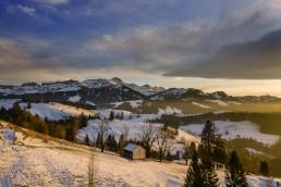 Appenzell, Appenzellerland, Clouds, Hundwil, Jahreszeiten, Landschaft und Natur, Natur, Orte, Ostschweiz, Schweiz, Suisse, Switzerland, Säntis, Wetter, Winter, Wolken