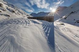 Alpen, Alpenpass, Flüelapsss, Graubünden, Jahreszeiten, Landschaft und Natur, Natur, Orte, Schnee, Schweiz, Sonnenschein, Suisse, Switzerland, Wetter, Winter