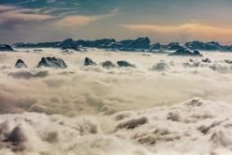 Alpen, Appenzellerland, Aussicht, Gipfel, Landschaft und Natur, Nebelmeer, Orte, Ostschweiz, Schweiz, Suisse, Switzerland, Säntis, Toggenburg, Wetter