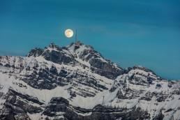 Alpen, Alpstein, Appenzellerland, Gipfel, Landscape, Landschaft, Landschaft und Natur, Mond, Orte, Ostschweiz, Schweiz, Suisse, Switzerland, Säntis, Toggenburg, Vollmond