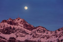 Alpen, Appenzellerland, Gipfel, Landscape, Landschaft, Landschaft und Natur, Mond, Orte, Ostschweiz, Schweiz, Suisse, Switzerland, Säntis, Toggenburg, Vollmond