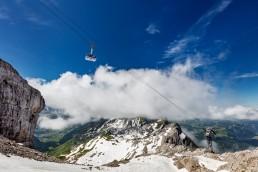 Alpen, Appenzellerland, Aussicht, Clouds, Gipfel, Landschaft und Natur, Orte, Ostschweiz, Schweiz, Suisse, Switzerland, Säntis, Säntisbahn, Toggenburg, Wetter, Wolken
