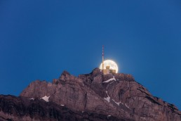 Alpen, Appenzellerland, Gipfel, Landscape, Landschaft, Landschaft und Natur, Mond, Orte, Ostschweiz, Schweiz, Suisse, Switzerland, Säntis, Vollmond