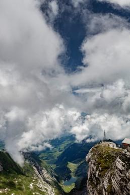 Alpen, Alpstein, Appenzellerland, Clouds, Gipfel, Landschaft und Natur, Orte, Ostschweiz, Schweiz, Seealpsee, Suisse, Switzerland, Säntis, Toggenburg, Wetter, Wolken