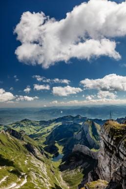 Alpen, Alpstein, Appenzellerland, Aussicht, Clouds, Gipfel, Landschaft und Natur, Orte, Ostschweiz, Schweiz, Seealpsee, Suisse, Switzerland, Säntis, Toggenburg, Wetter, Wolken