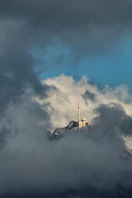 Alpen, Alpstein, Appenzellerland, Clouds, Gipfel, Landschaft und Natur, Orte, Ostschweiz, Schweiz, Suisse, Switzerland, Säntis, Wetter, Wolken