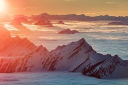 Alpen, Appenzellerland, Aussicht, Gipfel, Landschaft und Natur, Nebelmeer, Orte, Ostschweiz, Schweiz, Sonnenschein, Suisse, Switzerland, Säntis, Toggenburg, Wetter