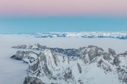Alpen, Alpstein, Appenzellerland, Aussicht, Gipfel, Landschaft und Natur, Nebelmeer, Orte, Ostschweiz, Schweiz, Suisse, Switzerland, Säntis, Wetter