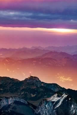 Alpen, Alpstein, Appenzellerland, Aussicht, Clouds, Gipfel, Landschaft und Natur, Orte, Ostschweiz, Schweiz, Suisse, Switzerland, Säntis, Wetter, Wolken