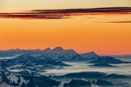 Alpen, Appenzellerland, Aussicht, Clouds, Gipfel, Landschaft und Natur, Nebelmeer, Orte, Ostschweiz, Schweiz, Suisse, Switzerland, Säntis, Toggenburg, Wetter, Wolken