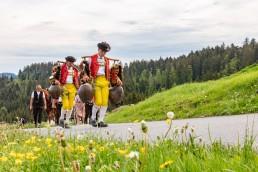 Alpaufzug, Alpfahrt, Appenzell, Appenzell Ausserrohden, Appenzellerland, Brauchtum und Anlässe, Kühe, Landschaft und Natur, Orte, Ostschweiz, Schweiz, Sennen, Suisse, Switzerland, Tier, Tracht, tradition