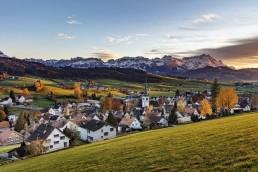 Appenzell Ausserrohden, Appenzellerland, Autumn, Berge, Clouds, Dorf, Fall, Gais, Herbst, Ostschweiz, Schweiz, Suisse, Switzerland, Wolken