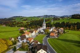 Appenzell Ausserrohden, Appenzellerland, Dji Mavic pro 2, Dorf, Drohne, Hundwil, Ostschweiz, Schweiz, Suisse, Switzerland