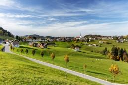 Appenzell Ausserrohden, Appenzellerland, Dorf, Ostschweiz, Schweiz, Schwellbrunn, Suisse, Switzerland