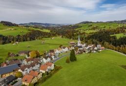 Appenzell Ausserrohden, Dji Mavic pro 2, Dorf, Drohne, Hundwil, Ostschweiz, Schweiz, Suisse, Switzerland
