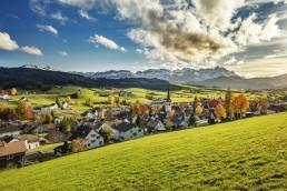 Appenzell Ausserrohden, Autumn, Berge, Clouds, Dorf, Fall, Gais, Herbst, Ostschweiz, Schweiz, Suisse, Switzerland, Wolken