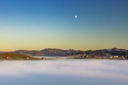 Appenzell Ausserrohden, Autumn, Dorf, Fall, Fotografie, Herbst, Landschaftsfotografie, Mond, Nebelmeer, Ostschweiz, Photography, Schweiz, Stein, Suisse, Switzerland, Wetter, landscape photography