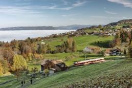 Appenzeller Land Tourismus AR, Appenzeller Vorderland, Bergbahn, Eisenbahn, Heiden, Landscape, Landschaft, Ostschweiz, Schienenverkehr, Tourismus, Verkehr