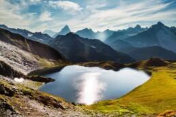 Alpen, Alps, Berg, Berge, Bergmassiv, Bergsee, Gipfel, Lacs de Fenêtre, Schweiz, See, Sommer, Suisse, Switzerland, Vallais, Wallis  CHE Schweiz Vallais, lake, summer