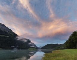 Abendrot, Alp, Berg, Berge, Bergmassiv, Clouds, Gewitter, Glarus, Klöntalerseee, Schweiz, See, Sommer, Suisse, Switzerland, Thunderstorm, Wetter, Wolken, summer