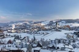Abend, Appenzell, Appenzell Ausserrohden, Appenzellerland, Speicher, Trogen, Winter