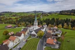 Appenzell Ausserrohden, Appenzellerland, Autumn, Dji Mavic pro 2, Dorf, Drohne, Fall, Herbst, Hundwil, Suisse, Switzerland