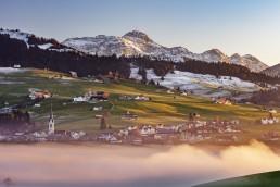 Abend, Appenzell, Appenzell Ausserrohden, Appenzellerland, Autumn, Dorf, Fall, Fotografie, Herbst, Hundwil, Landschaftsfotografie, Nebelmeer, Ostschweiz, Photography, Schweiz, Suisse, Switzerland, Säntis, Wetter, landscape photography