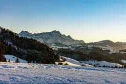 Abend, Appenzell, Appenzell Ausserrohden, Appenzellerland, Bühler, Ostschweiz, Suisse, Switzerland, Säntis, Trogen, Winter