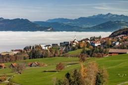 Appenzell, Appenzell Ausserrohden, Appenzeller Vorderland, Autumn, Dorf, Fall, Herbst, Nebel, Nebelmeer, Ostschweiz, Schweiz, Suisse, Switzerland, Wetter, Wolfhalden