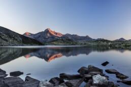 Alp, Alpen, Alps, Berg, Berge, Bergmassiv, Bergsee, Graubünden, Morgen, Ostschweiz, Schweiz, See, Sommer, Suisse, Switzerland, lake, summer