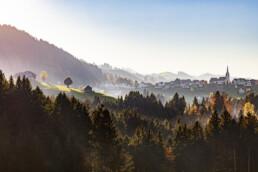 Abend, Appenzell, Appenzell Ausserrohden, Autumn, Dorf, Fall, Herbst, Ostschweiz, Schweiz, Suisse, Switzerland, Waldstatt