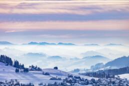 Appenzell Ausserrohden, Aussicht, Berge, Frost, Speicher, Winter