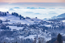 Appenzell Ausserrohden, Aussicht, Berge, Frost, Trogen, Winter