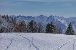 Appenzell Ausserrohden, Appenzeller Vorderland, Aussicht, Berge, Frost, Wald, Wald AR, Winter