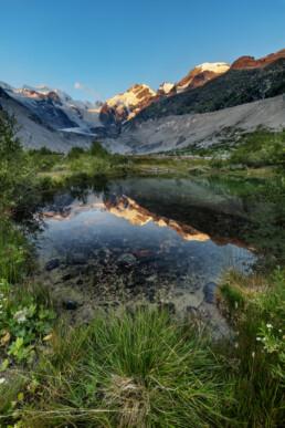 Alpen, Alps, Bach, Engadin, Fluss, Gewässer, Gipfel, Gletscher, Graubünden, Schweiz, Sommer, Suisse, Switzerland, summer