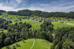 Appenzell, Appenzell Ausserrohden, Brücke, Grub, Hängebrücke, Ostschweiz, St. Gallen, Verkehr, Wanderweg, Weg