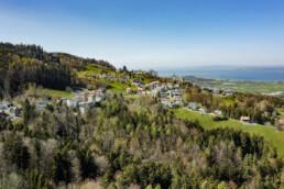 Appenzell, Appenzell Ausserrohden, Appenzeller Vorderland, Aussicht, Bodensee, Dorf, Drohne, Frühling, Ostschweiz, Schweiz, See, Sonnenschein, Spring, Suisse, Switzerland, Walzenhausen, lake