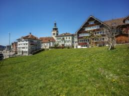 Appenzell, Appenzell Ausserrohden, Appenzellerhaus, Bauerhaus, Bühler, Dorf, Frühling, Kirche, Kultur, Kulturbauten, Schweiz, Spring, Suisse, Switzerland