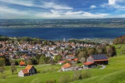 Appenzell, Appenzell Ausserrohden, Aussicht, Bodensee, Dorf, Frühling, Heiden, Ostschweiz, Schweiz, See, Spring, Suisse, Switzerland, lake