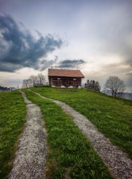 Appenzell, Appenzell Ausserrohden, Clouds, Frühling, Haus, Hundwil, Hütte, Schweiz, Spring, Suisse, Switzerland, Wolken, haus