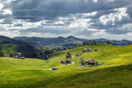 Alp, Appenzell, Appenzell Ausserrohden, Bauernhof, Blumenwiese, Clouds, Frühling, Hundwil, Ortsbild, Ostschweiz, Schweiz, Spring, Suisse, Switzerland, Wiese, Wolken