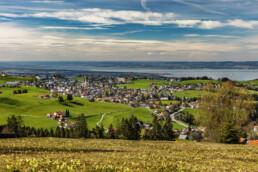 Appenzell, Appenzell Ausserrohden, Aussicht, Blumenwiese, Bodensee, Dorf, Frühling, Ostschweiz, Schweiz, See, Speicher, Spring, Suisse, Switzerland, Wiese, lake