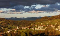 Appenzell, Appenzell Ausserrohden, Clouds, Dorf, Frühling, Hügel, Ostschweiz, Schweiz, Spring, Streusiedlung, Suisse, Switzerland, Säntis, Trogen, Wolken