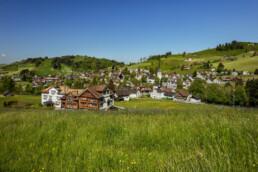 Appenzell Ausserrohden, Dorf, Dorfplatz, Gais, Ostschweiz, Schweiz, Suisse, Switzerland