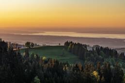 Abend, Abendrot, Appenzell, Appenzell Ausserrohden, Aussicht, Bodensee, Gais, Hügel, Ostschweiz, Schweiz, See, Sommer, Suisse, Switzerland, Wetter, summer