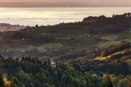 Abend, Abendrot, Appenzell, Appenzell Ausserrohden, Aussicht, Bodensee, Gais, Hügel, Ostschweiz, Schweiz, See, Sommer, Suisse, Switzerland, Trogen, Wetter, summer